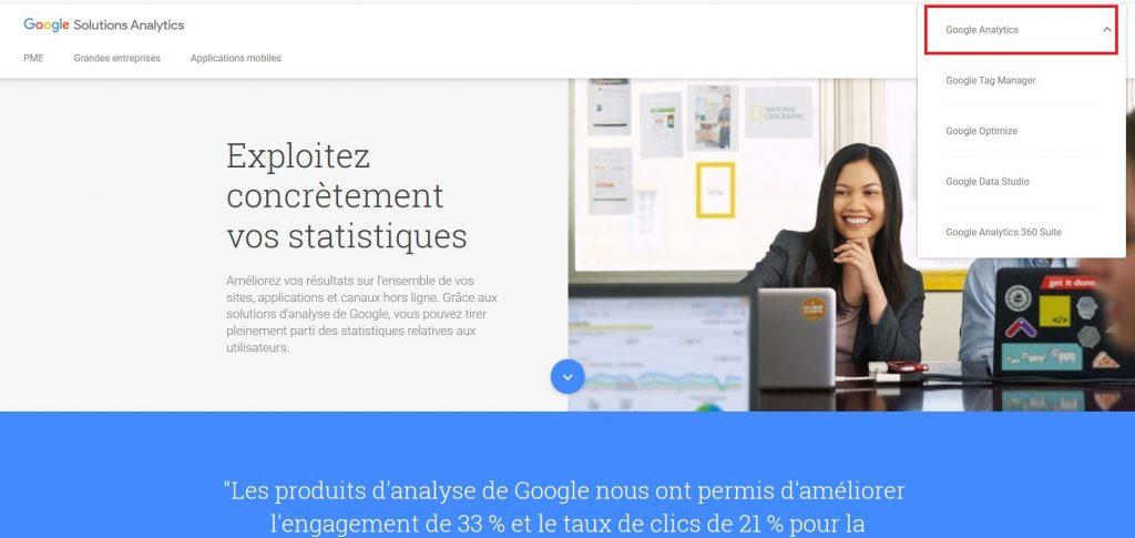 Accéder à Google Analytics
