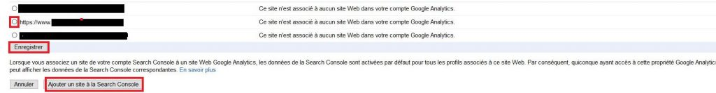 Ajouter un site de Search Console dans Google Analytics