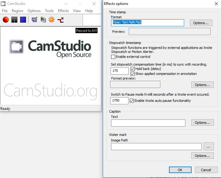 CamStudio pour enregistrer son écran