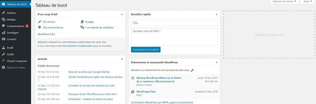 Connexion d'un utilisateur auteur dans WordPress