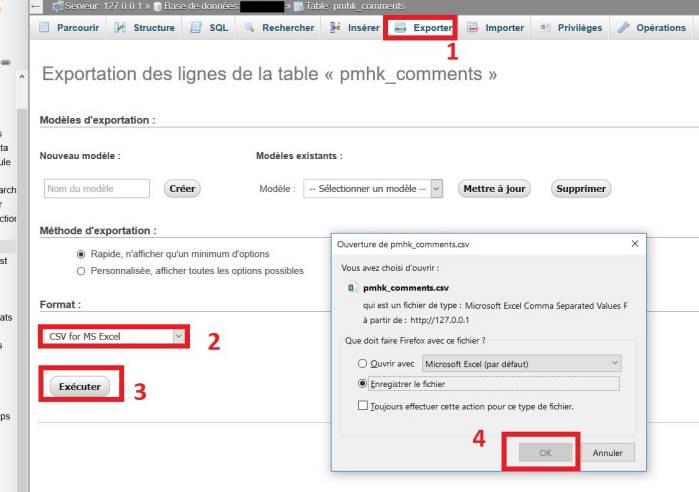 Exporter des commentaires dans WordPress