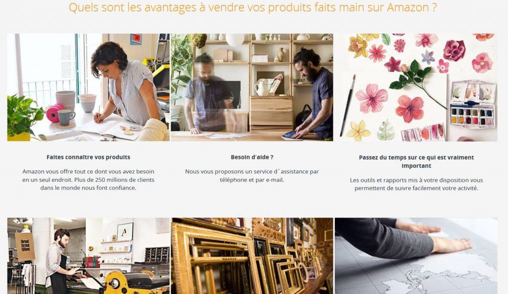 Les avantages de Amazon Handmade