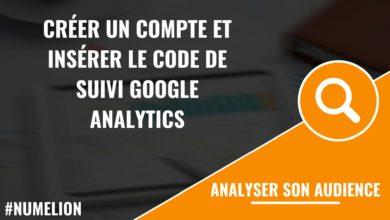 Ajouter un compte et insérer le code Google Analytics