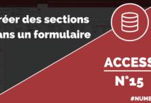 Créer des sections dans un formulaire Access