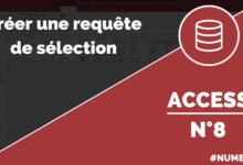 Créer une requête de sélection dans Access