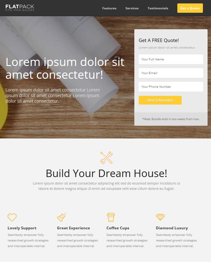 Exemple d'une Landing Page