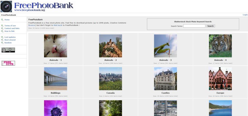 Freephotobank - Une base d'images