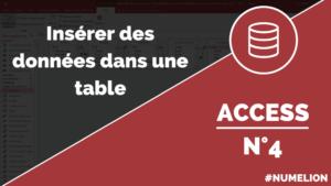 Insérer des données dans une table Access