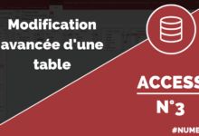 Modification avancée d'une table Access