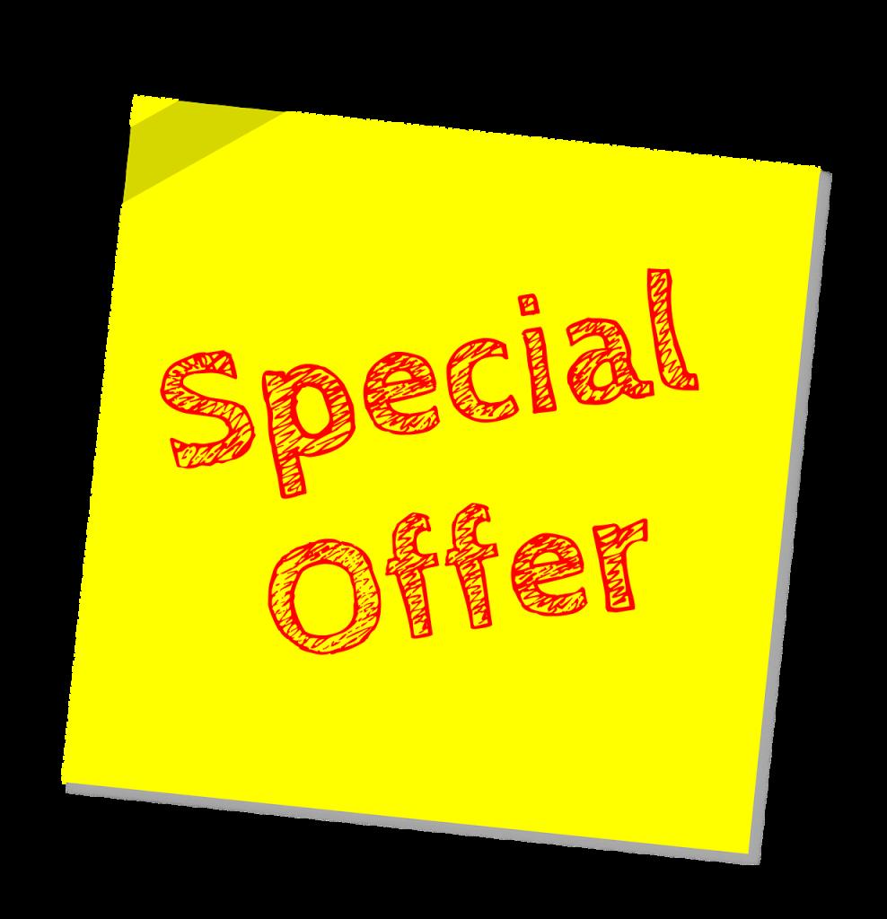 Nouvelle offre spéciale pour récupérer votre prospect