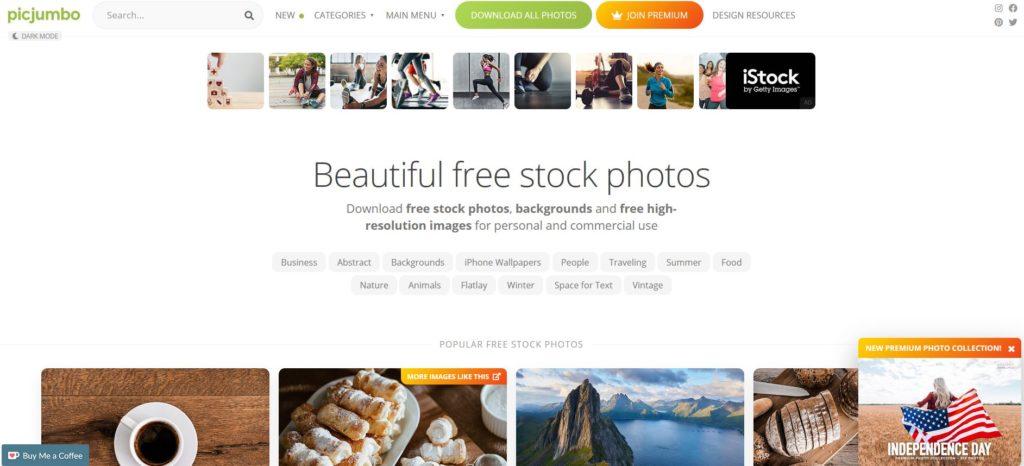 Picjumbo - Plateformes d'images et photos hautes résolutions