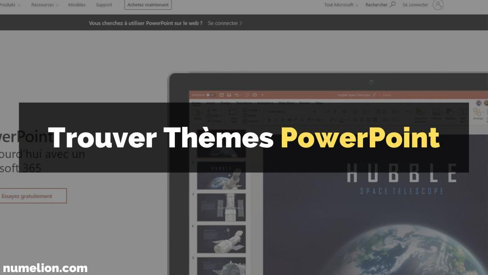 Meilleures banques de thèmes PowerPoint (présentations / slides)