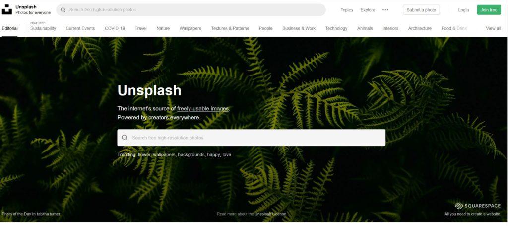 Unsplash - Une des meilleurs banques de photos gratuites