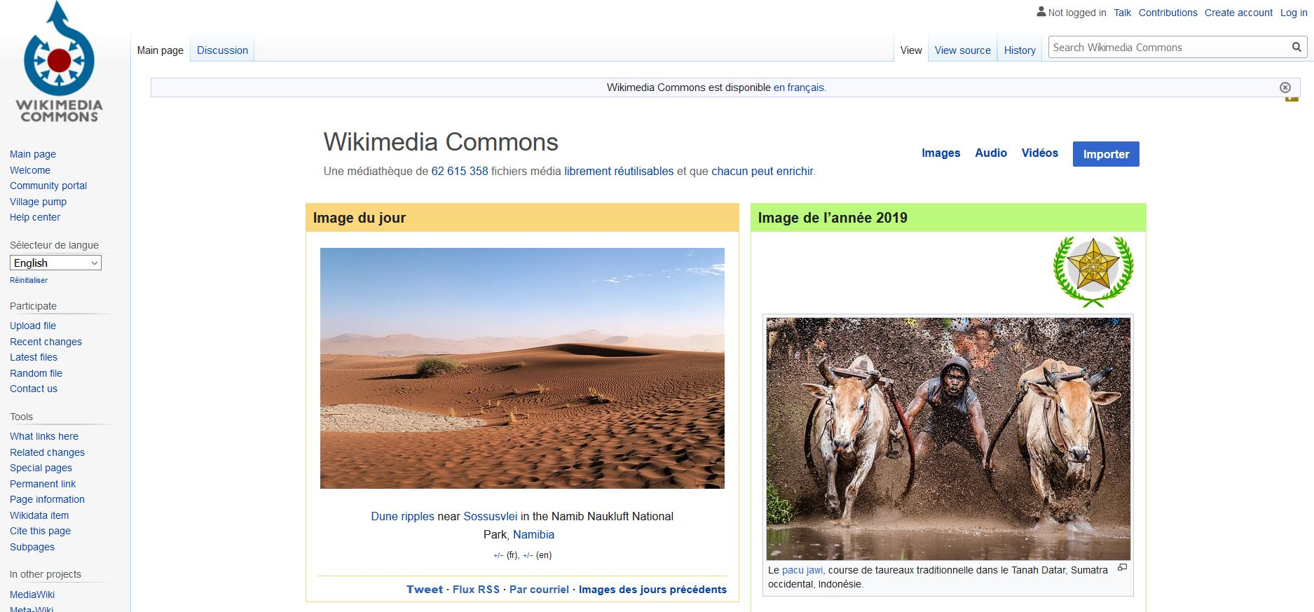 Wikimedia Commons - Wikipedia Images libres de Droits