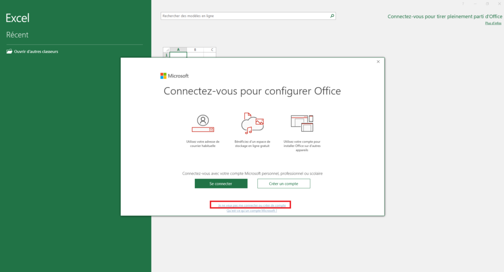 Activer Microsoft Office Professionnel