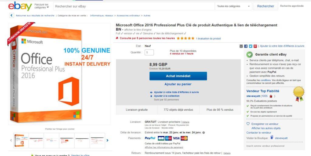Choisir Microsoft Office 2016 Professionnel