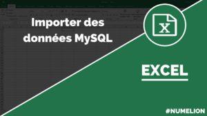 Importer des données MySQL dans Excel