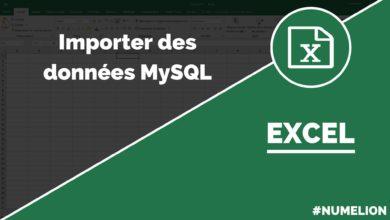 Importer ds données MySQL dans Excel