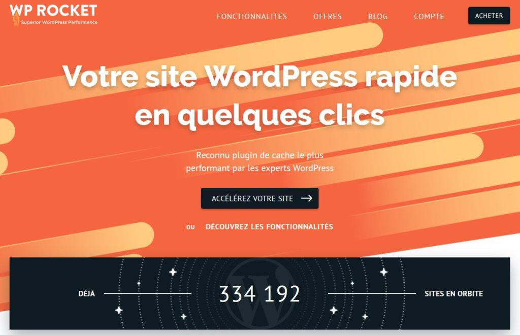 WP Rocket - Plugin de cache payant sous WordPress