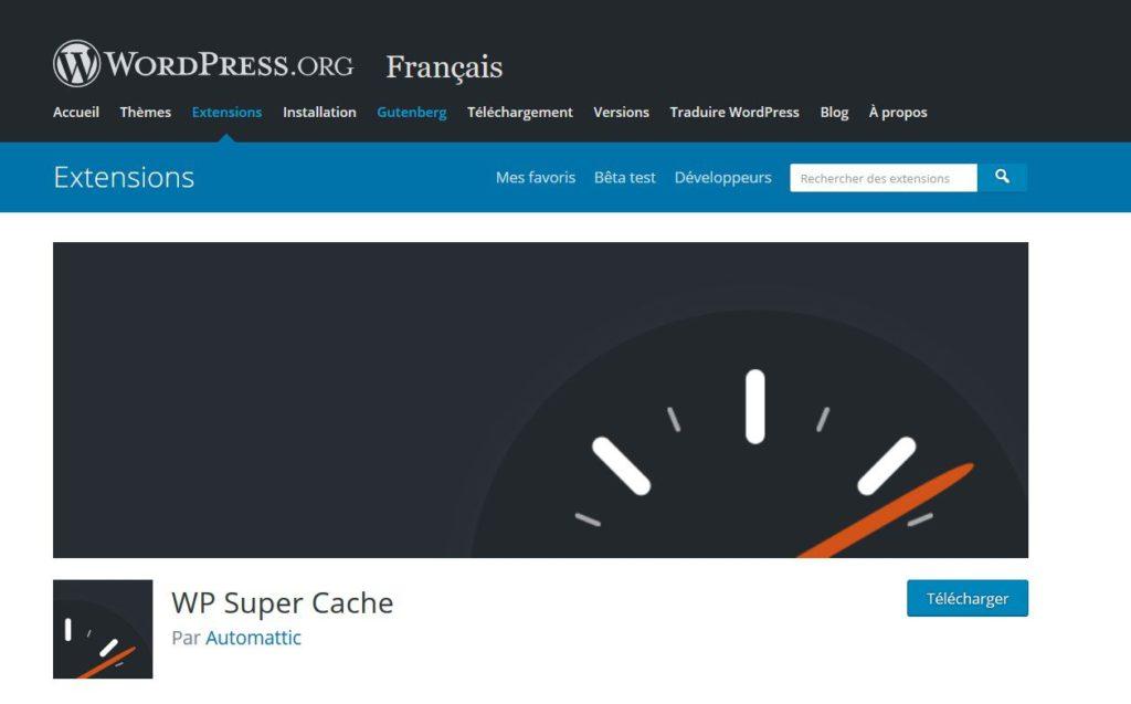 WP Super Cache - Le plus téléchargé