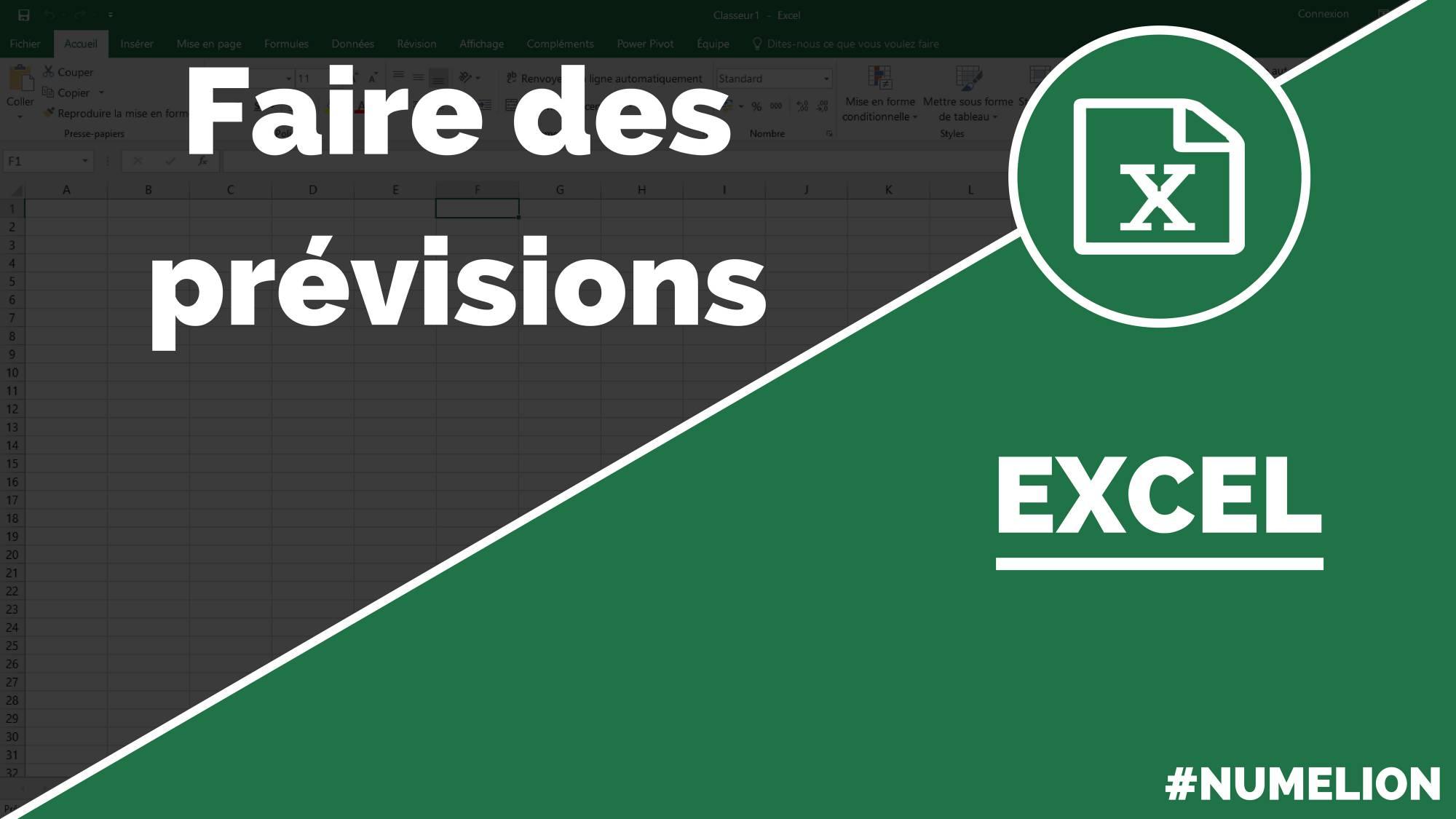 Faire Des Previsions Avec Excel Chiffre D Affaires Ventes