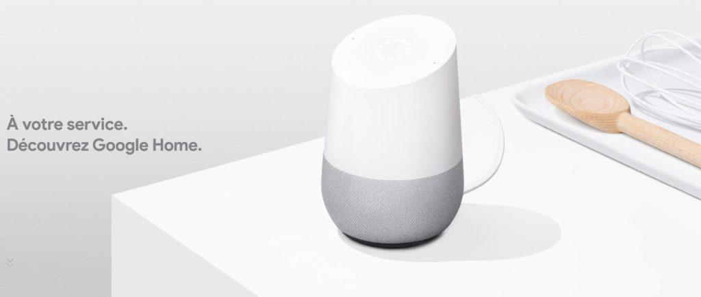 Google Home avec reconnaissance vocale