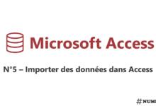 Importer des données dans Access