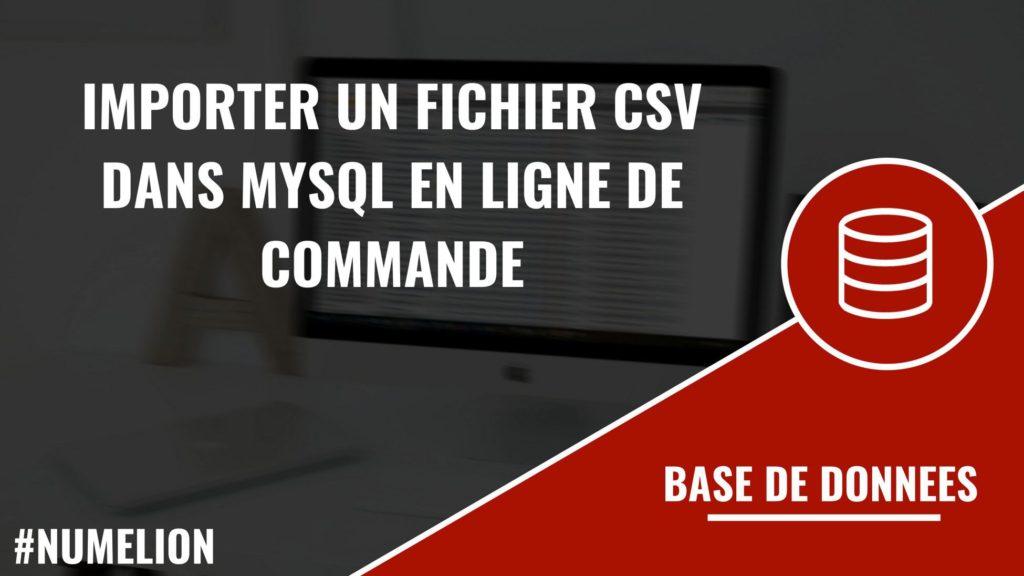 Importer un fichier csv dans MySQL en ligne de commande