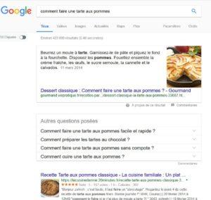 Position 0 dans Google sous la forme de paragraphe