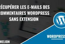 Récupérer les e-mails des commentaires WordPress
