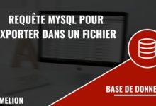 Exporter les résultats d'une requête MySQL dans un fichier