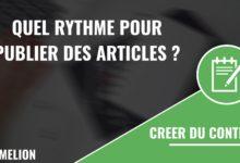 Rythme pour publier des articles sur votre site internet