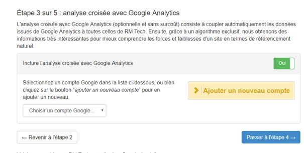 Analyse avec Google Analytics