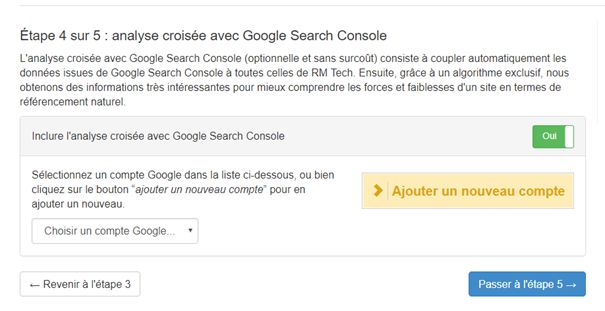 Analyse avec Google Search Console