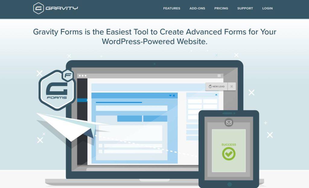 Gravity Forms - Un plugin de formulaire de référence