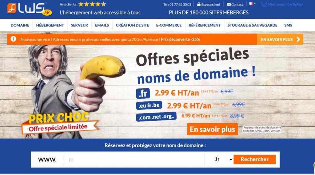 LWS - un des meilleurs hébergeurs de site internet français
