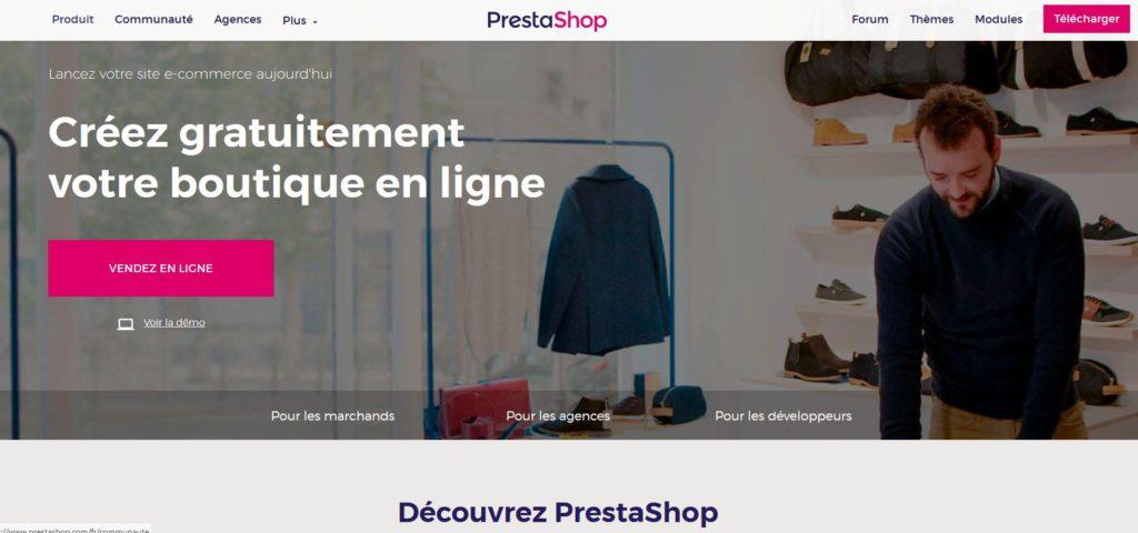 Prestashop permet de créer une e-boutique