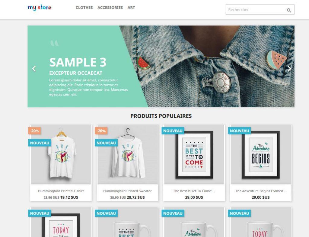 Site e-commerce avec Prestashop