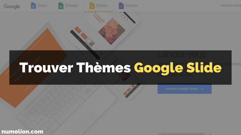 Banque de thèmes pour le logiciel Google Slide