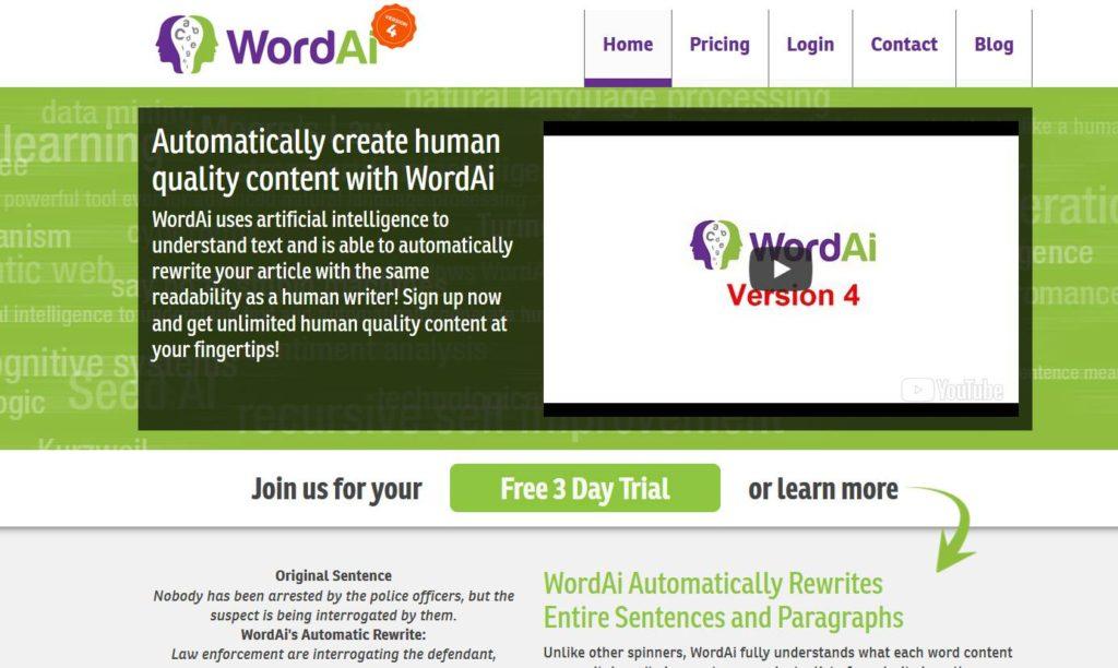 WordAI - Applications dans les meilleurs outils de référencement SEO