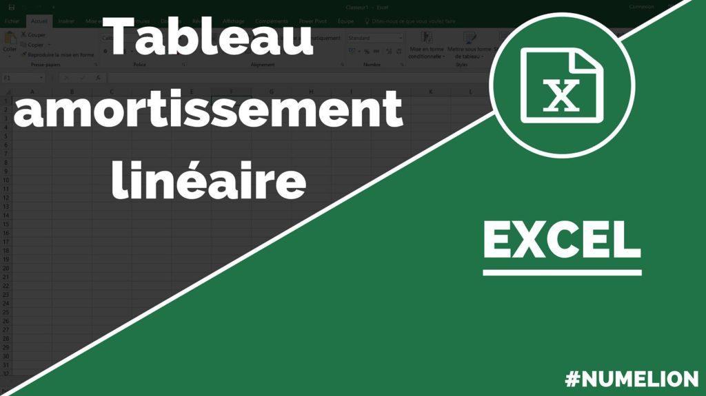 Calculer l'amortissement linéaire dans Excel