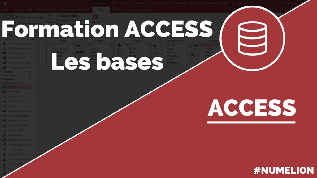 Formation ACCESS gratuite - Les bases