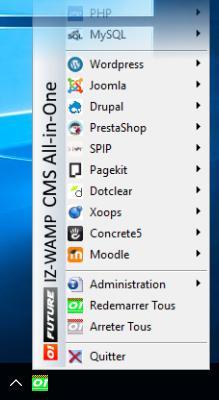 IZ-Wamp pour utiliser les CMS sans aucune connaissance