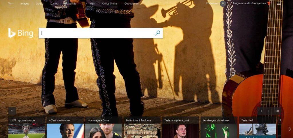 Bing le moteur de recherche de Microsoft