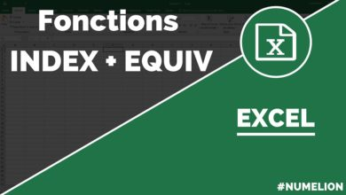 Fonction INDEX et EQUIV dans Excel