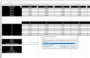Utiliser la fonction INDEX avec la matrice