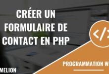 Créer un formulaire de contact en php