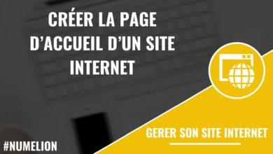 Comment créer la page d'accueil d'un site web ?