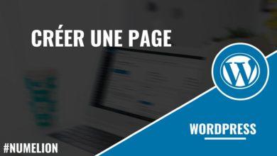 Créer une page dans Wordpress