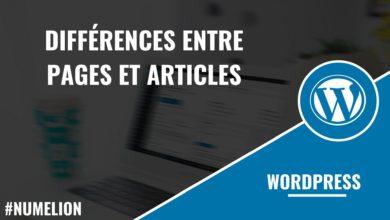 Différences entre pages et articles dans Wordpress ?